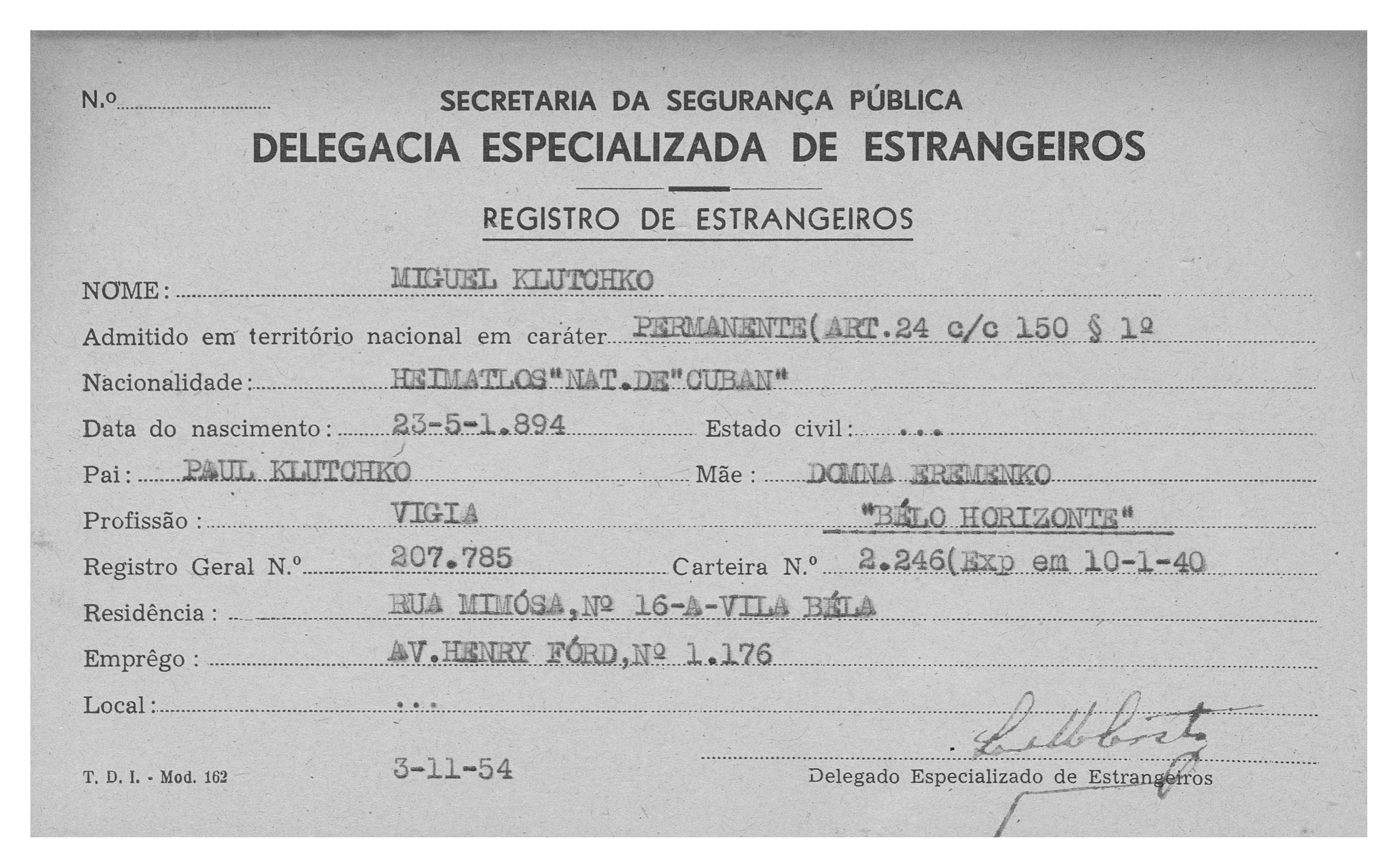 1954-11 - registro de estrangeiro - SP - 01 copy